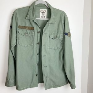 Aritzia TNA military jacket shirt Size L